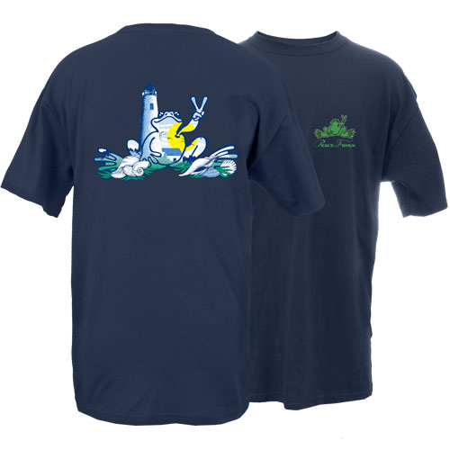 Peace Frogs Adult Lighthouse Frog Short Sleeve T-Shirt
