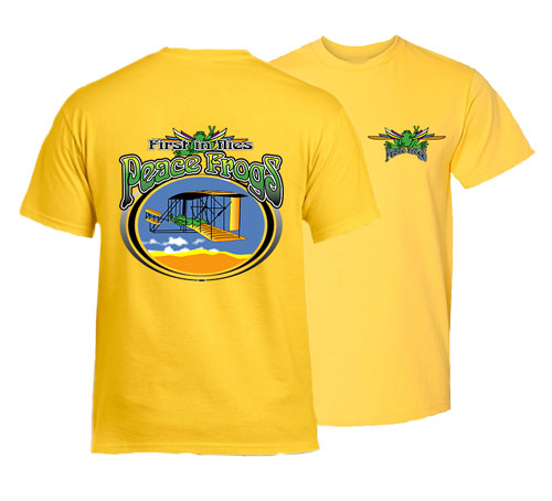 Peace Frogs Adult Aviation Day Short Sleeve T-Shirt