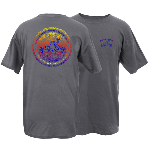 Peace Frogs Adult Crazy Circle Short Sleeve T-Shirt