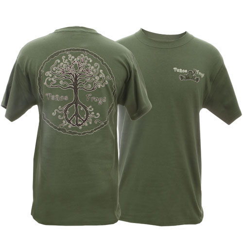 Peace Frogs Adult Wild Tree Short Sleeve T-Shirt