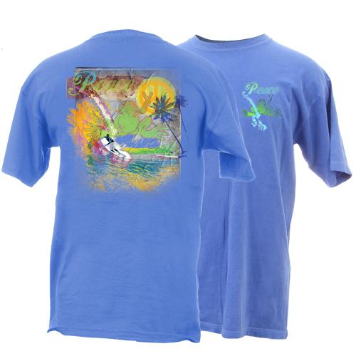 Peace Frogs Adult Peace Surfer Garment Dye Short Sleeve T-Shirt