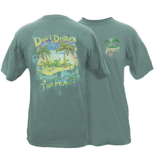 Peace Frogs Adult Don't Disturb The Peace Garment Dye Short Sleeve T-Shirt