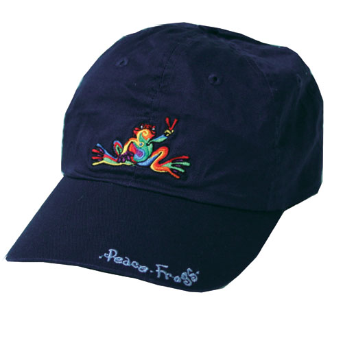 Peace Frogs Retro Frog W/ Words Baseball Hat