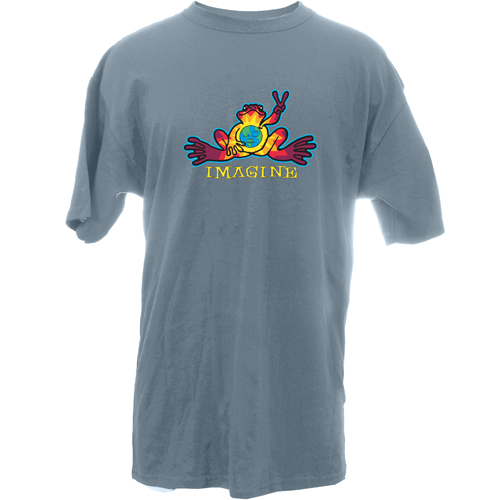 Peace Frogs Adult Imagine Frog Short Sleeve T-Shirt