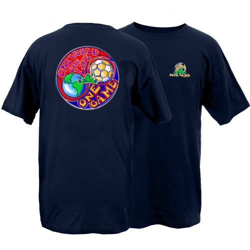 Peace Frogs Adult One World Soccer Short Sleeve T-Shirt