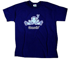 Peace Frogs Adult Groovin Short Sleeve T-Shirt