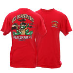 Peace Frogs Adult US Marines Short Sleeve T-Shirt