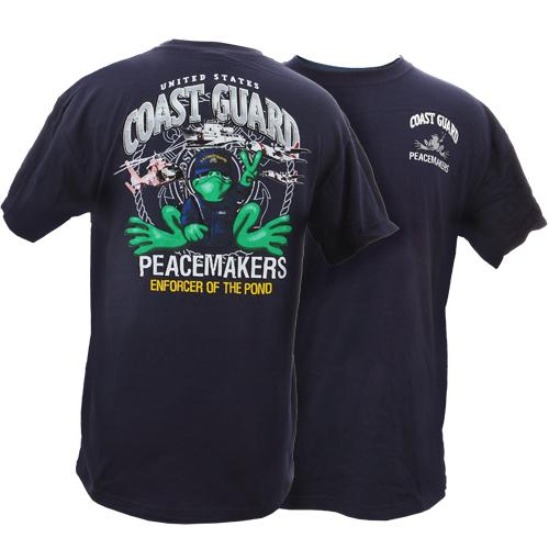 Peace Frogs Adult US Coast Guard Short Sleeve T-Shirt
