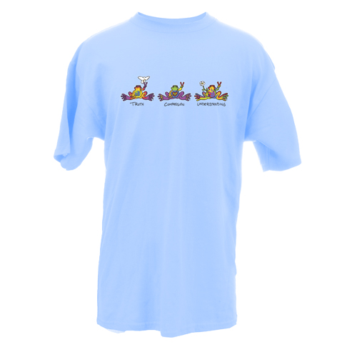 Peace Frogs Adult Truth, Compassion, Understanding Short Sleeve T-Shirt