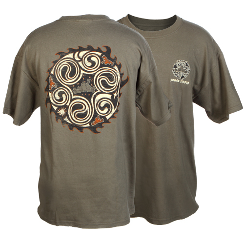 Peace Frogs Adult Many Yings Short Sleeve T-Shirt