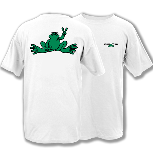 Peace Frogs Adult Green Frog Short Sleeve T-Shirt