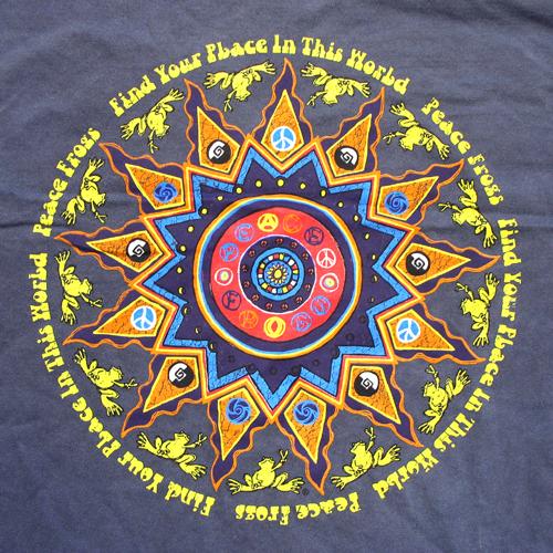 Peace Frogs Adult Mayan Calendar Garment Dye Short Sleeve T-Shirt