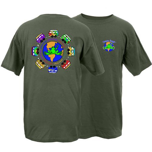 Peace Frogs Adult VW World Garment Dye Short Sleeve T-Shirt