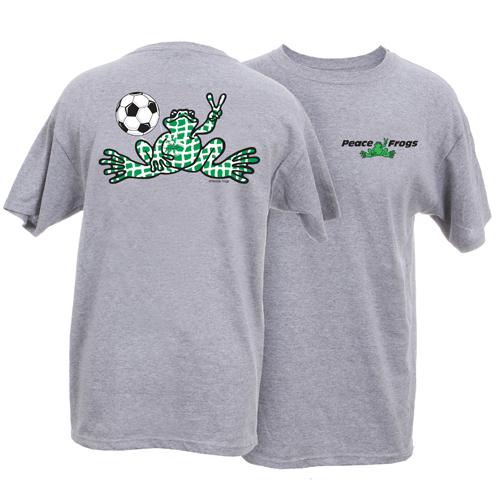 Peace Frogs Adult Granite Soccer Net Short Sleeve T-Shirt