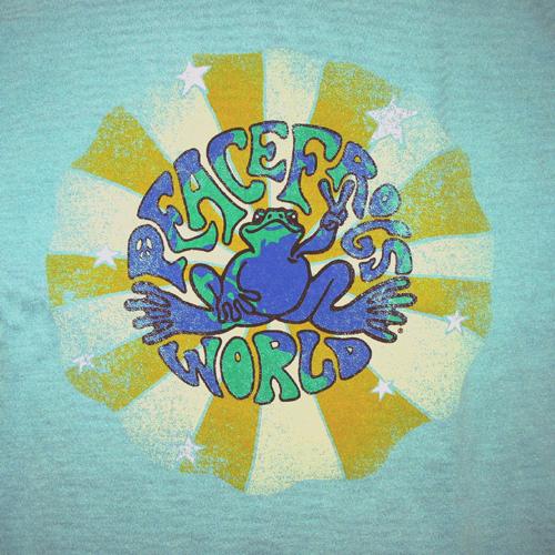 Peace Frogs Adult Pf World Garment Dye Short Sleeve T-Shirt