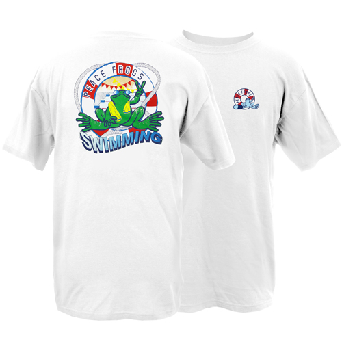 Peace Frogs Adult Swimming Short Sleeve T-Shirt