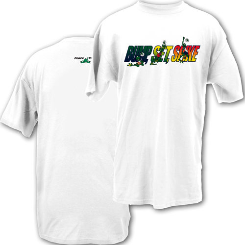 Peace Frogs Adult Volleyball Short Sleeve T-Shirt