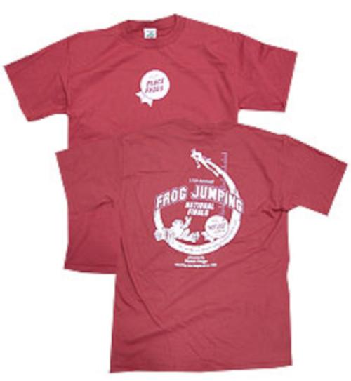 Peace Frogs Adult Cedar Frog Jumping Short Sleeve T-Shirt