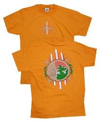 Peace Frogs Adult Rocky Three Board Short Sleeve T-Shirt