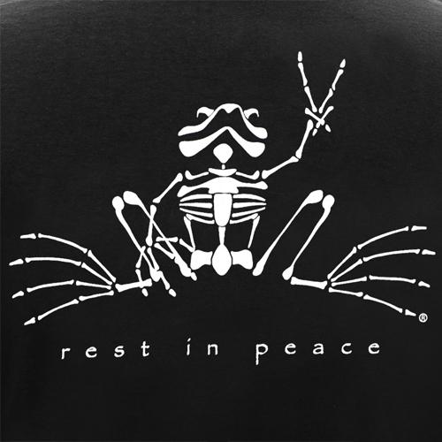 Peace Frogs Rest In Peace Glow Sticker