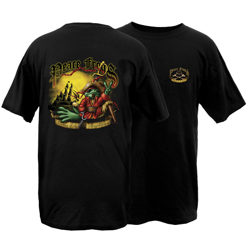 Peace Frogs Adult Pirate Short Sleeve T-Shirt