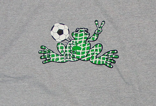 Peace Frogs Granite Soccer Net Adult Long Sleeve T-Shirt