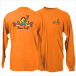 Peace Frogs Retro Adult Long Sleeve T-Shirt