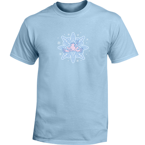 Peace Frogs Adult Snowflake Short Sleeve T-Shirt