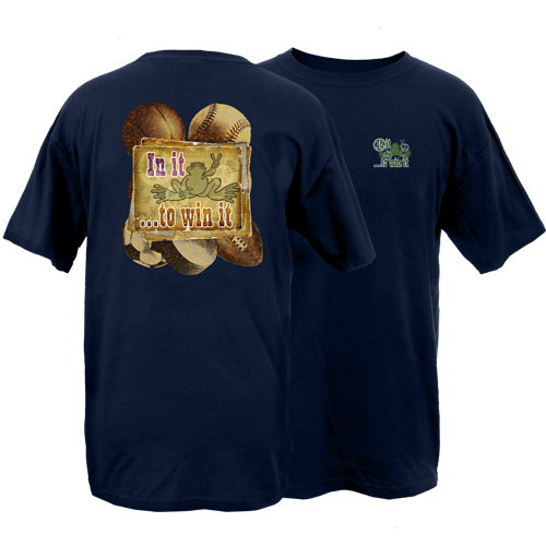 Peace Frogs Adult In It To Win It Short Sleeve T-Shirt