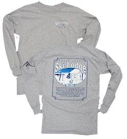 Peace Frogs Granite Ski Lodge Adult Long Sleeve T-Shirt