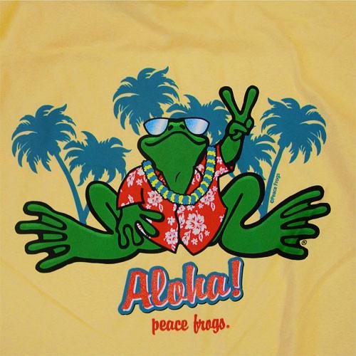 Peace Frogs Adult Aloha Short Sleeve T-Shirt