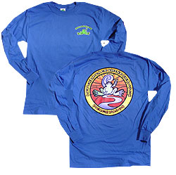 Peace Frogs Stained Glass Adult Long Sleeve T-Shirt