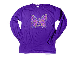 Peace Frogs Groovy Butterfly Adult Long Sleeve T-Shirt