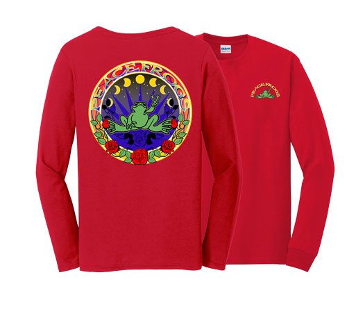Peace Frogs Rose Hippy Adult Long Sleeve T-Shirt