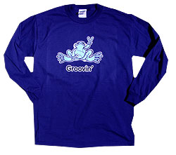Peace Frogs Groovin Adult Long Sleeve T-Shirt