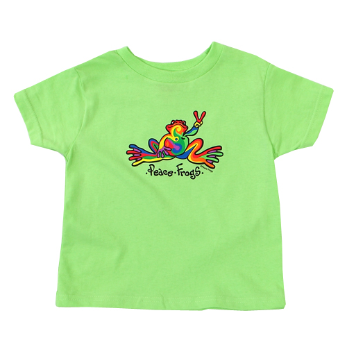 Peace Frogs Retro Toddler Short Sleeve T-Shirt