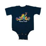 Peace Frogs Retro Infant Short Sleeve Onesie