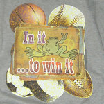 Peace Frogs In It To Win It Printed Adult Hooded Pullover Sweatshirt