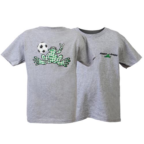 Peace Frogs Granite Soccer Net Short Sleeve Kids T-Shirt