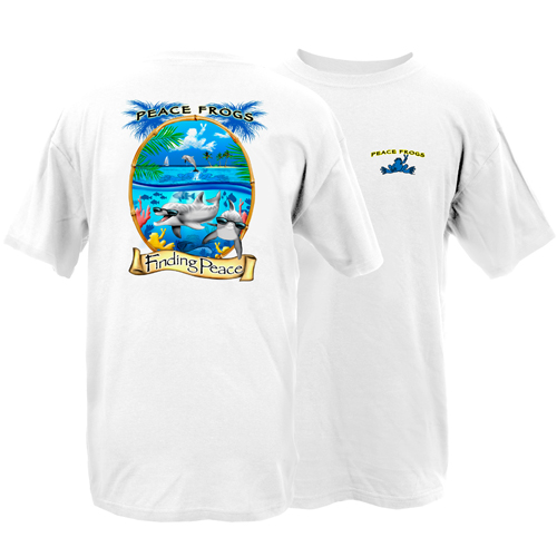 Peace Frogs Adult Finding Peace Short Sleeve T-Shirt