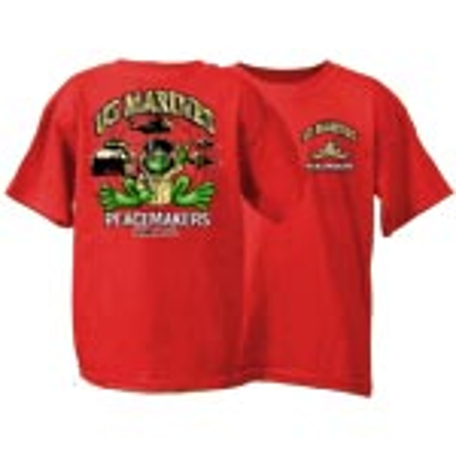 Peace Frogs US Marine Short Sleeve Kids T-Shirt