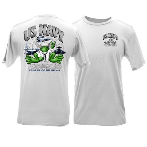 Peace Frogs US Navy Short Sleeve Kids T-Shirt