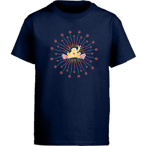 Peace Frogs Radiate Short Sleeve Kids T-Shirt