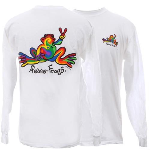 Peace Frogs Retro Long Sleeve Kids T-Shirt