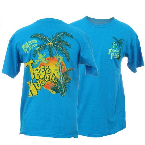 Peace Frogs Adult Tree Hugger Short Sleeve T-Shirt