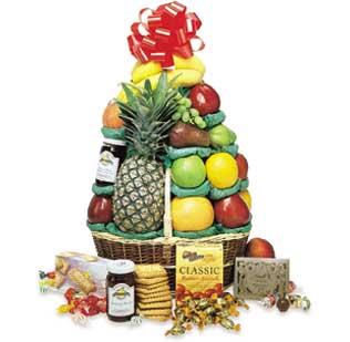 Perfect Cheer Baskets, Gourmet Fruit Basket