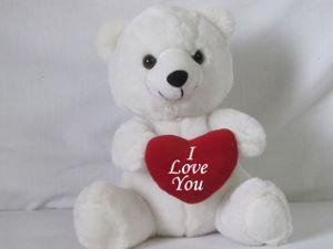 """I Love You"" Bear - White"