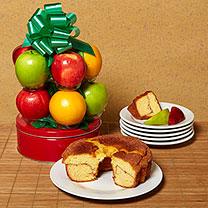 Coffee Cake and Fruit Basket