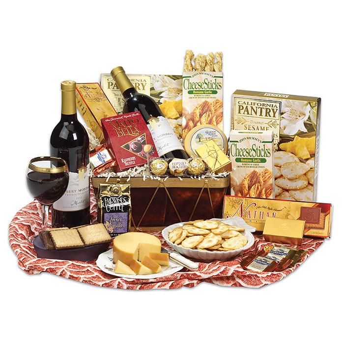 Merlot Wine Basket, Wine Sampler Gift