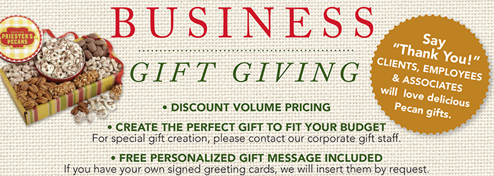 Corporate gifts priester39s pecans for Gift card program for small business